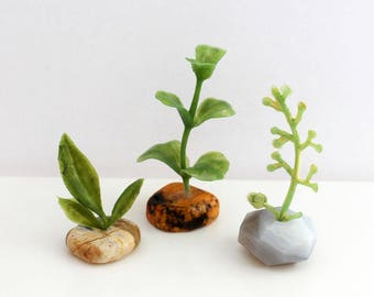 Set of 3 Miniature Vases - Geology Collection