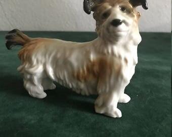 Vintage Karl Ens Porcelain Figurine of Terrier Dog