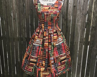 Packed Books Library Dress