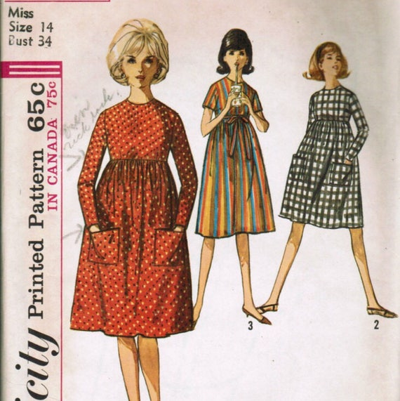 Simplicity 5255 Vintage Reproduction Maternity Dress with Full Skirt