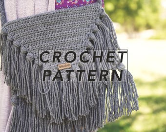 The Jethro Bag Pattern | crochet bag pattern | crochet pattern | boho bag |  | instant PDF download | digital pattern | picture tutorial