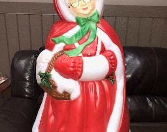 Christmas santa's best mrs claus blow mold yard decoration plastic light up