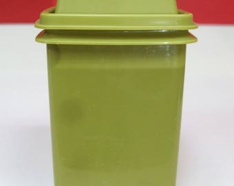 Vintage Tupperware Pickle Keeper Pick A Deli Storage Container Olive Avocado Green with Strainer Olives Dill Peppers 3 Pieces Retro EXCELENT