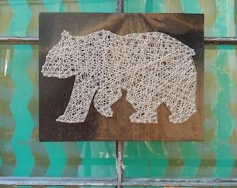 String Art Animals Safari Set Nursery Art String Art Lion