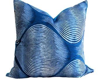 Robert Allen Pillow Cover Kutev Indigo