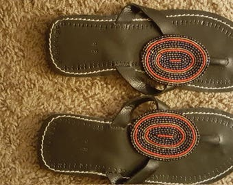 African leather sandals!!!