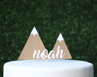 Personalised mountain cake topper