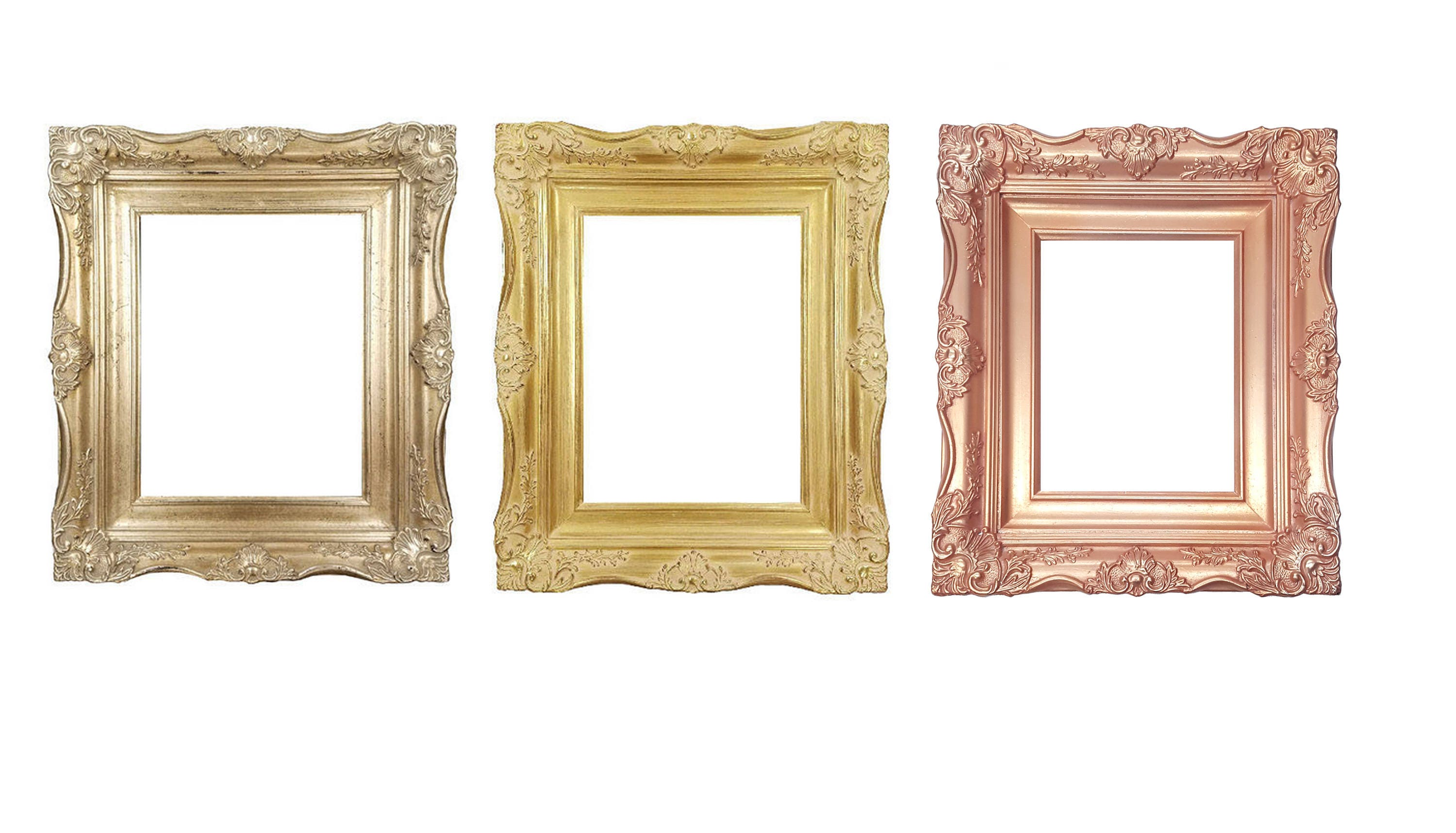 4 Quot Ornate Baroque French Gold Silver Or Rose Gold