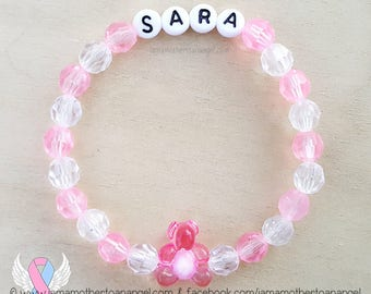 Teddy Bear - Personalized Handmade Bracelet - PINK