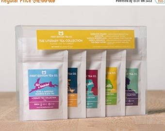 ON SALE The Literary Collection Loose Leaf Tea - Tea Gift Set - Gift for book lover - 5 x 10g bags