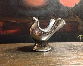 Vintage Cast Metal Coal Skuttle - Pipe Holder - Paperweight - Desk Decor