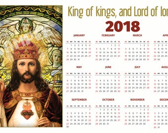 """Jesus, King of kings and Lord of lords, One Dozen Calandars (12""""X18"""") Ready to Hang, Reg. 39.00  On Sale Now!"""