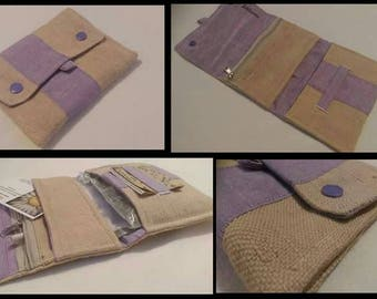Tobacco canvas beige and purple