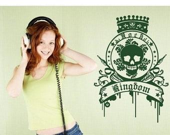 20% OFF Summer Sale Rock Kingdom music wall decal, sticker, mural, vinyl wall art
