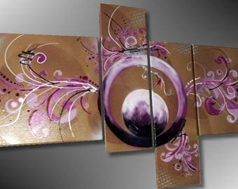 Purple brown Baroque painting