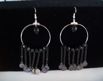 creole earrings with pendants