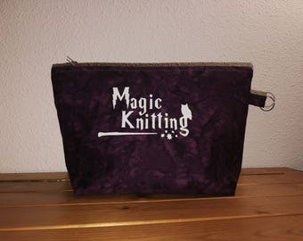 Magic Knitting Bag Purple