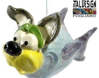 Saurabh Pandey dog collectible ceramic art sculpture italdesign Fazal-Italian ceramics-surrealism art modern art