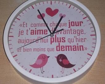 clock wall pattern love proverb