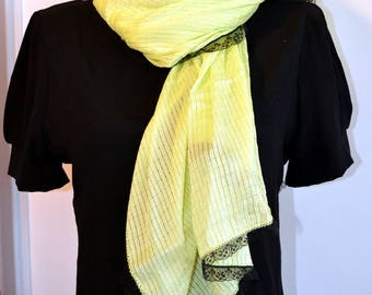 yellow scarf very sweet