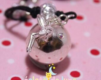 Pregnancy's Bola HarmonyBall genuine 925 sterling silver fairy charm and rhinestone