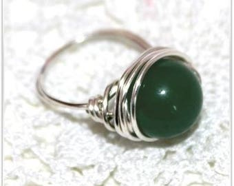 Aventurine ring green natural choice of size