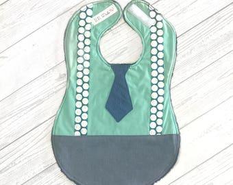 Full Coverage Baby Bib- Tie/Suspenders