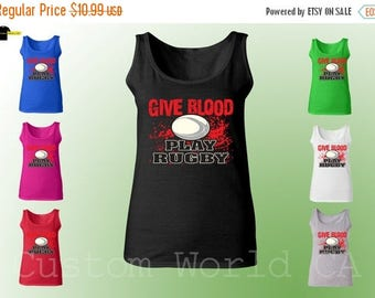 ON SALE TODAY Tank Top - Give Blood Play Rugby New Design All Colors Availeble