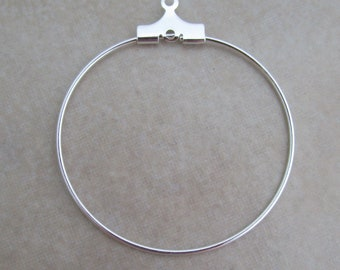 50 silver beading hoops 30mm