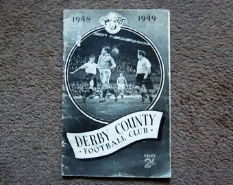 1948-49 Derby County Football Club Original Official Football Supporters Club Handbook Yearbook Ideal Christmas Gift Birthday Present