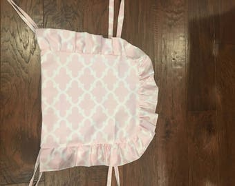 Eddie Bauer High Chair Cover/Pad/Cushion:  Light Pink Ruffle Highchair Cover.  Fits Eddie Bauer Classic Chair