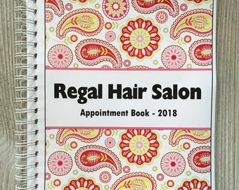 2018 Dated Yearly Appointment Book - Personalized - Pink Paisley Design