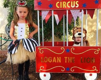 Baby girls Ringmaster , Circus Lion Tamer Costume,  ringmaster costume