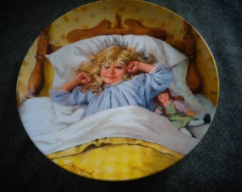 1985 edwin m knowles awakening collectors plate