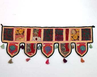 Handmade Window Door Valance Home Decor Decorative Embroidered Patchwork Toran Pelmet Topper Drapery Top Hanging Tent Decoration Art E913