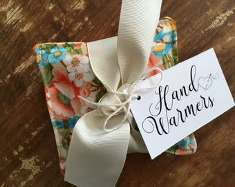 Pretty Floral & Dot Hand Warmers with Vanilla Scented Flax Seed