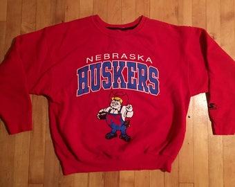 Vintage University of Nebraska Huskers Sweatshirt - Size L