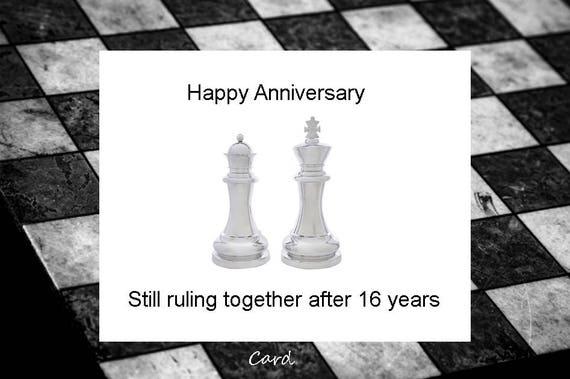 16th Anniversary, 16th Wedding Anniversary, 16 years married, 16 years ...