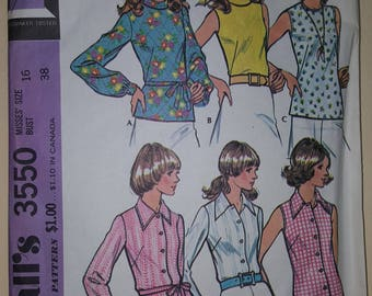 McCall's Pattern Size 16  #3550