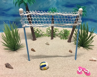 Miniature Volleyball Net - Miniatures - Miniature Beach - Beach Miniatures - Beach Wedding - Wedding Cake Toppers - Beach Terrarium -Wedding