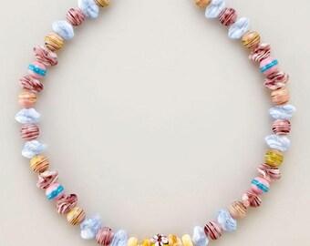 massive glitzy handmade lamp work beads genuine murano glass bead necklace