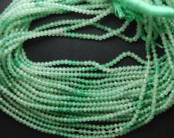 13 Inches, AAA Quality Shaded Green Chalcedony Faceted Rondelles, Size 3.20mm
