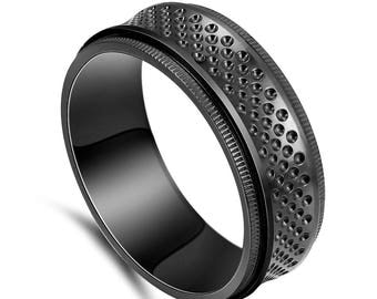 Meotorite Black Zirconium Ring