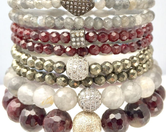 Clear the Way.  A powerful gemstone bracelet stack support clearing and grounding