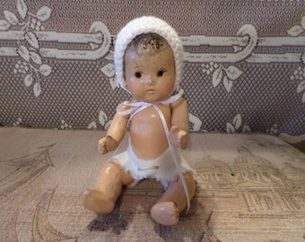 """Antique Composition Baby Doll 7"""""""