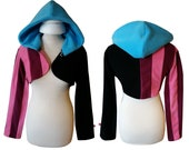 League of Legends champion Jinx inspired cosplay costume hoodie (shrug style), lol gamer, game cosplay, halloween costume, get jinxed