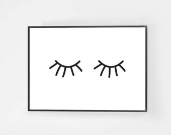 Poster poster Eyes - size 13 x 18 cm