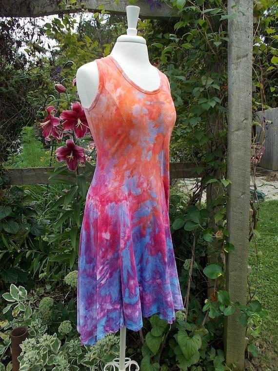 SALE! Cotton Ice dye tie dye Swing Dress Small
