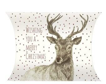 Deer cardboard - packaging for Christmas gift