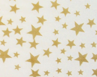 5 sheets of tissue paper with stars gold
